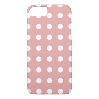 Hellrosa weißer schicker Tupfen iPhone 7 Kasten iPhone 7 Hülle
