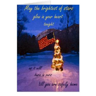 Hellste Stern-Weihnachtskarte Karte