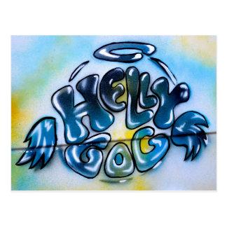 Hellygog Van logo Postkarte