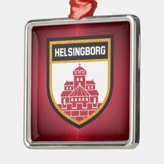 Helsingborg-Flagge Silbernes Ornament