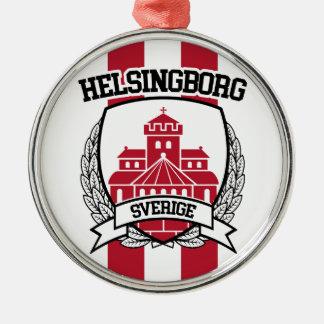 Helsingborg Rundes Silberfarbenes Ornament