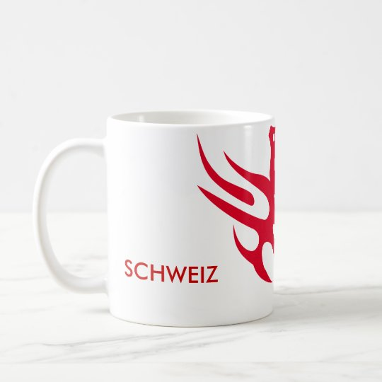 helvetica-rot, 1291, SCHWEIZ Kaffeetasse