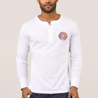 Henley die Leinwand der Männer lange Hülsen-Shirt T-Shirt