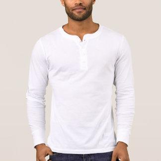 Henley die Leinwand der Männer langes Hülsen-Shirt T-Shirt