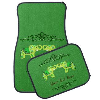 Hennastrauch-Elefant (Grün/Limones Grün) Autofußmatte