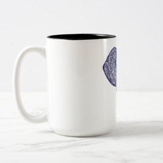 Hennastrauch-Elefant-Kunstentwurf Zweifarbige Tasse