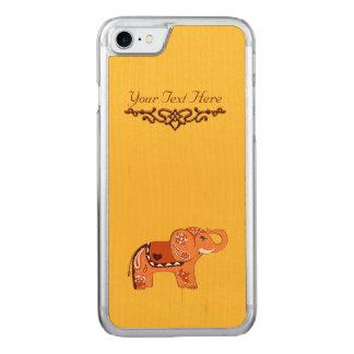 Hennastrauch-Elefant (orange/Rot) Carved iPhone 7 Hülle