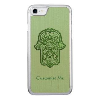 Hennastrauch-Hand von Hamsa (Grün) Carved iPhone 7 Hülle