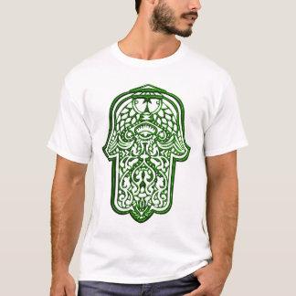 Hennastrauch-Hand von Hamsa (Grün) T-Shirt