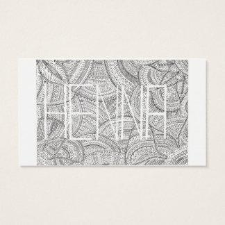 Hennastrauch-Künstler-Visitenkarte Visitenkarte