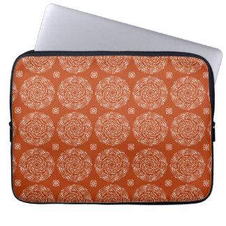 Hennastrauch-Mandala Laptopschutzhülle