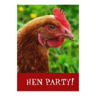 Henne-NachtJunggeselinnen-Abschied laden ein 12,7 X 17,8 Cm Einladungskarte
