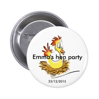 Henne-Party-Abzeichen (Name) (Datum) Runder Button 5,1 Cm