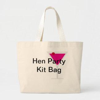 Henne-Party-Ausrüstungs-Tasche Jumbo Stoffbeutel