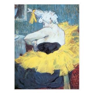 Henri De Toulouse-Lautrec : Le clownesse Cha u Kao Cartes Postales
