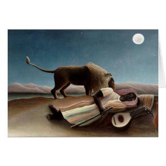Henri Rousseau- das schlafende Sinti und Roma Karte