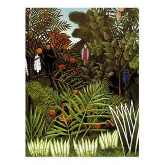 Henri Rousseau - Dschungel-Landschaft Postkarte