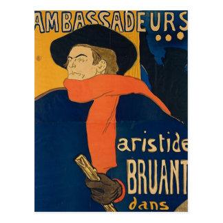Henri Toulouse Lautrec - Aristide Bruant Postkarte