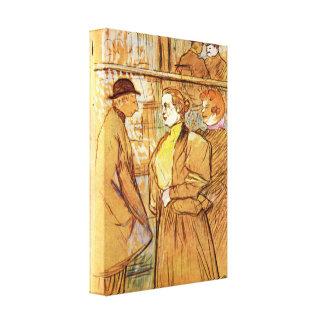Henride Toulouse-Lautrec - beim Moulin Rouge Gespannte Galeriedrucke