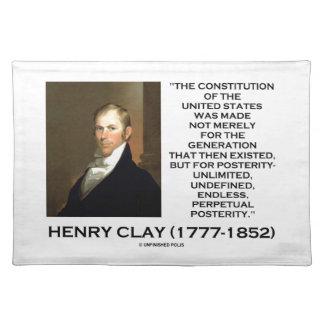 Henry Clay-Konstitution von Staat-Nachwelt Tischsets