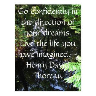 Henry David Thoreau-ZITAT Postkarte