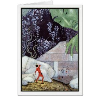 Henry und der Riese durch Virginia Frances Grußkarte
