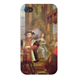 Henry VIII einführenanne boleyn am Gericht iPhone 4 Case