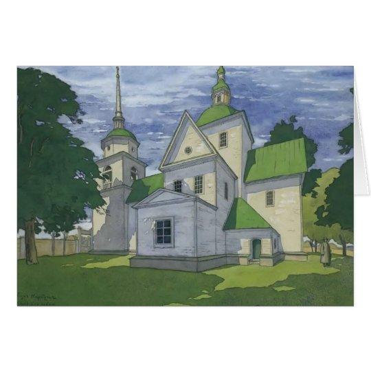 Heorhiy Narbut- Kirche der Geburt Christi Grußkarte