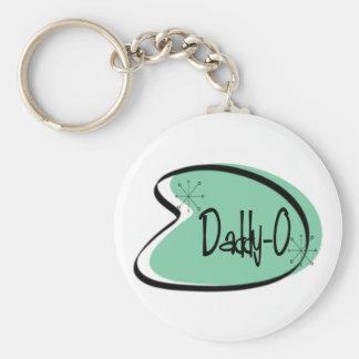 Hep Vati-O für den Vatertag Standard Runder Schlüsselanhänger