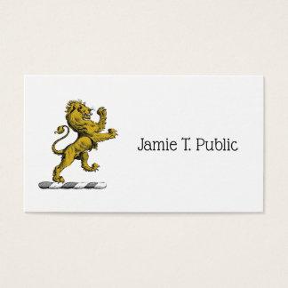 Heraldischer Löwe-stehendes Wappen-Emblem C Visitenkarte