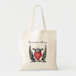 Heraldisches Herz mit Flügel-Wappen Wappen Tragetasche