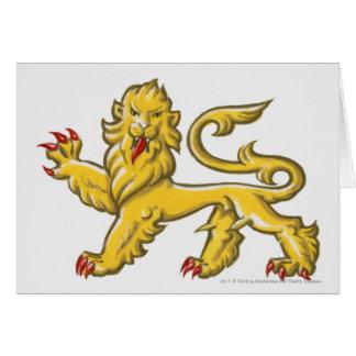 Heraldisches Symbol von Löwe statant guardant Karte
