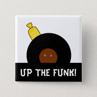 Herauf den Funk Stylized Afro-Mann-Knopf Quadratischer Button 5,1 Cm