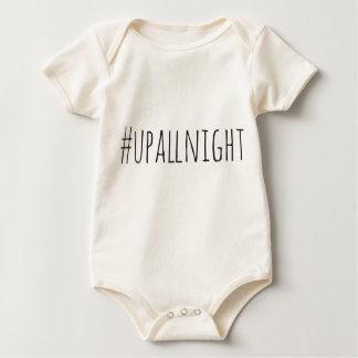 Herauf die ganze Nacht Hashtag Baby Strampler