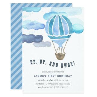 Herauf in das Luft-Kindergeburtstag-Party laden Karte