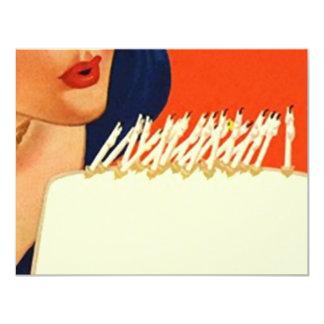 Heraus durchbrennen leuchtet der Geburtstags-Party 10,8 X 14 Cm Einladungskarte