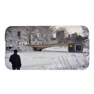 Heraus schauen über einem gefrorenen Teich Samsung Galaxy S5 Cover