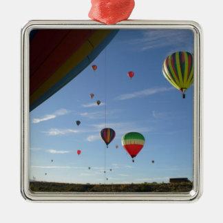 Heraus spähen quadratisches silberfarbenes ornament
