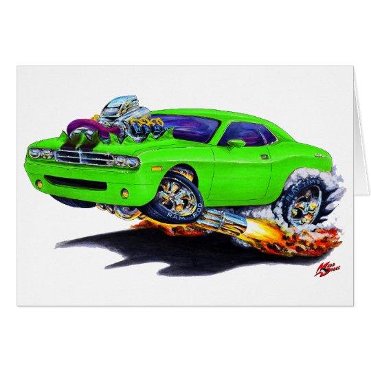 Herausforderer-grünes Auto 2008-10 Grußkarte