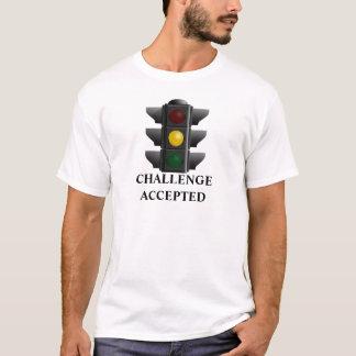 Herausforderung geltende gelbe Ampel lustig T-Shirt