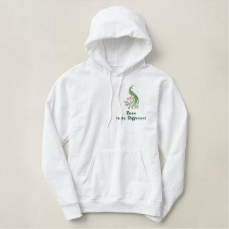 Herausforderung, zum unterschiedlich zu sein - bestickter hoodie