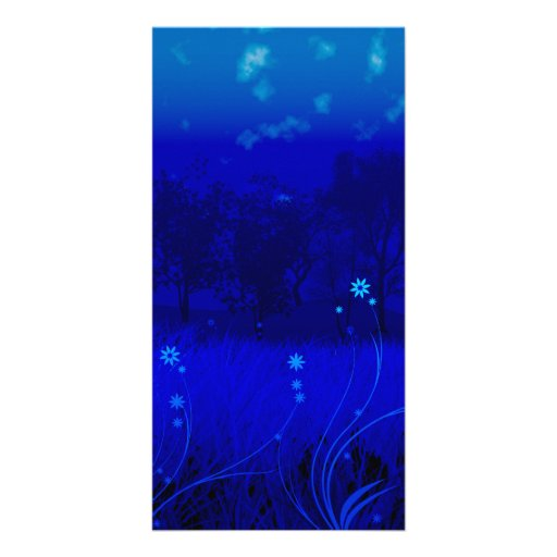 "herbe bleue flowers-8"" x 4"" Photocard Cartes Avec Photo"