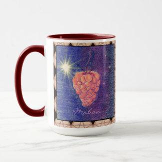 Herbst-Äquinoktikum Mabon mit Pentagrammen Tasse