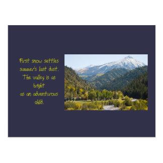 Herbst auf Kebler Durchlauf-Foto-und Postkarte