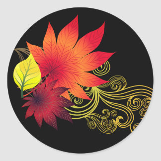 Herbst-Aufkleber Runder Aufkleber