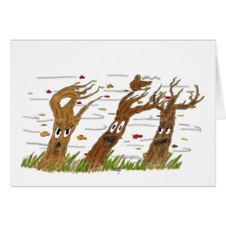 Herbst-Baum-Gruß-Karte Karte