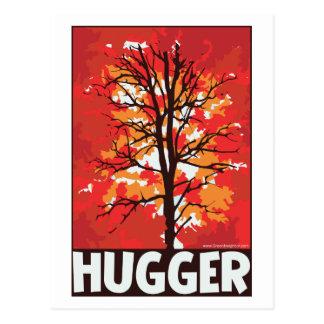 Herbst, Baum Hugger Postkarte