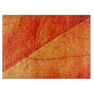 Herbst-Blatt-dekoratives hackendes Glasbrett Schneidebrett