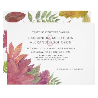 Herbst-Blatt-Hochzeit im Herbst laden 3973 ein Karte