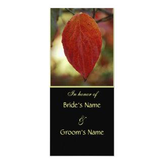 Herbst-Blatt-Hochzeits-Brunch-Einladungen 10,2 X 23,5 Cm Einladungskarte